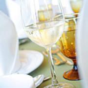 Wineglass Print by Atiketta Sangasaeng