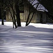 Winter Barn Print by Rob Travis
