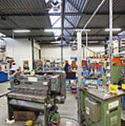 Workshop Full Of Machinery In A Factory Print by Corepics