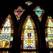 Wrc Stained Glass Window Print by Thomas Woolworth
