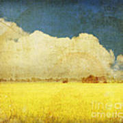 Yellow Field Print by Setsiri Silapasuwanchai