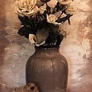 Yellow Tinted Roses Print by Marsha Heiken