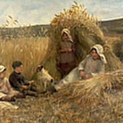 Young Harvesters Print by Lionel Percy Smythe