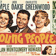 Young People, Shirley Temple, Jack Print by Everett