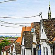 Zemun Rooftops In Belgrade Print by Elena Elisseeva