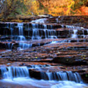 Archangel Falls In Zion Print by Pierre Leclerc Photography