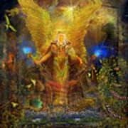 Archangel Michael-angel Tarot Card Print by Steve Roberts
