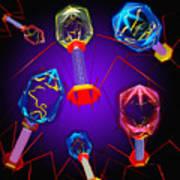 Bacteriophages Print by Mehau Kulyk
