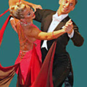 Ballroom Dancers Print by Larry Linton