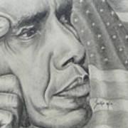 Barack Obama Print by Stephen Sookoo