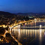 Budapest. View From Gellert Hill Print by Michal Bednarek