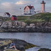 Cape Neddick Lighthouse Print by David DesRochers