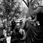 Debate With Lama Print by Lian Wang