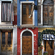 doors and windows of Burano - Venice Print by Joana Kruse