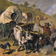 Emigrants To West, 19th C Print by Granger