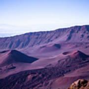 Haleakala Sunrise On The Summit Maui Hawaii - Kalahaku Overlook Print by Sharon Mau