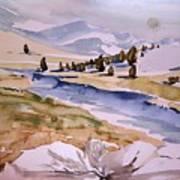 Kennedy Meadows Half In Winter Print by Amy Bernays