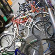 Many Bikes Print by Marilyn Hunt