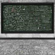 Maths Formula On Chalkboard Print by Setsiri Silapasuwanchai