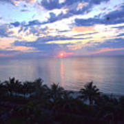 Miami Sunrise Print by Pravine Chester