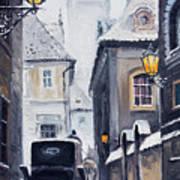 Prague Old Street 02 Print by Yuriy  Shevchuk