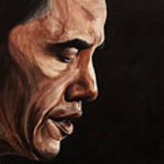 President Barack Obama Portrait Print by Patty Vicknair