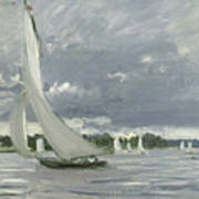 Regatta At Argenteuil Print by Claude Monet