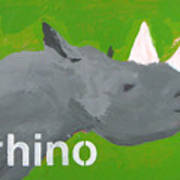 Rhinoceros Print by Laurie Breen