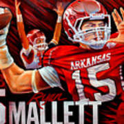 Ryan Mallett Print by Jim Wetherington