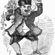 Santa Claus, 1849 Print by Granger