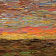 Sunset Print by James W Johnson