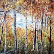 Tetons In Autumn Print by Patricia Pushaw
