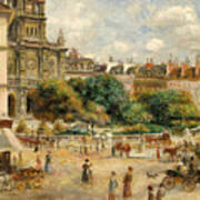 The Banks Of The Seine At Bougival Print by Pierre Auguste Renoir