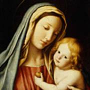 The Madonna And Child Print by Il Sassoferrato