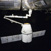 The Spacex Dragon Cargo Craft Prior Print by Stocktrek Images