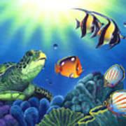 Turtle Dreams Print by Angie Hamlin