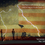 Usa Patriotic Operation Geronimo-e Kia Print by James BO  Insogna