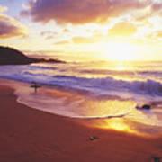 Waimea Bay Sunset Print by Bob Abraham - Printscapes