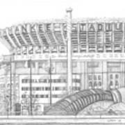 Yankee Stadium Print by Juliana Dube