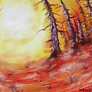 16 Trees Print by Joseph Palotas