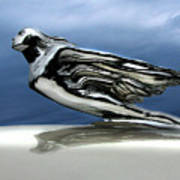 1941 Cadillac Emblem Abstract Print by Peter Piatt