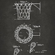 1951 Basketball Net Patent Artwork - Gray Print by Nikki Marie Smith