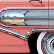 1958 Buick Side Chrome Bullet Print by David Kyte