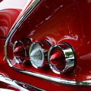 1958 Impala Tail Lights Print by Paul Ward