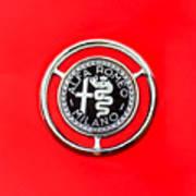 1959 Alfa-romeo Giulietta Sprint Emblem Print by Jill Reger