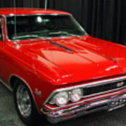 1966 Chevy Chevelle Ss 396 . Red . 7d9278 Print by Wingsdomain Art and Photography