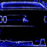 1969 Mustang In Neon 2 Print by Susan Bordelon