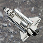 Aerial View Of Space Shuttle Discovery Print by Stocktrek Images