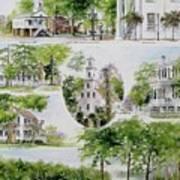 Cheraw Collage Print by Gloria Turner