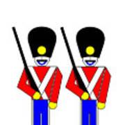 2 Guardsmen Print by Asbjorn Lonvig